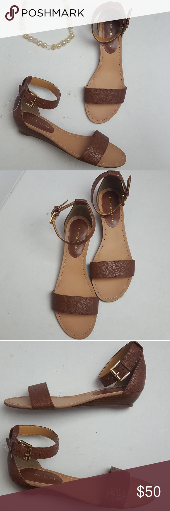 Tommy Hilfiger Sandal Wedges Size 65 Boutique My Posh Picks Skyway New Without Tags Brown