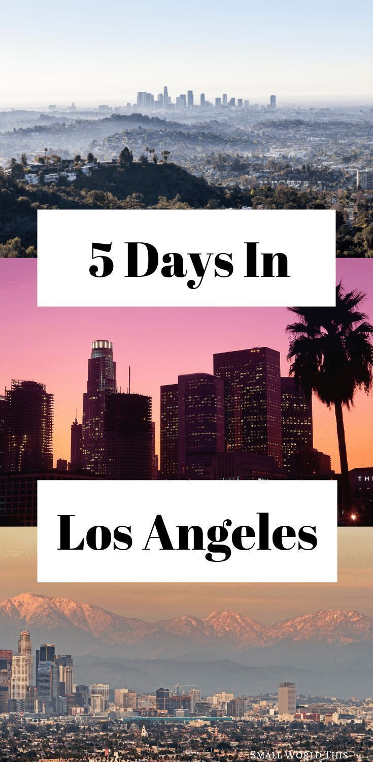 Need help creating an Los Angeles itinerary for 5 days and how to make the most of your time in this city? Here's a complete guide to how to make the most of your visit, including which sights to see, where to eat, and where to stay #losangeles #la #travel