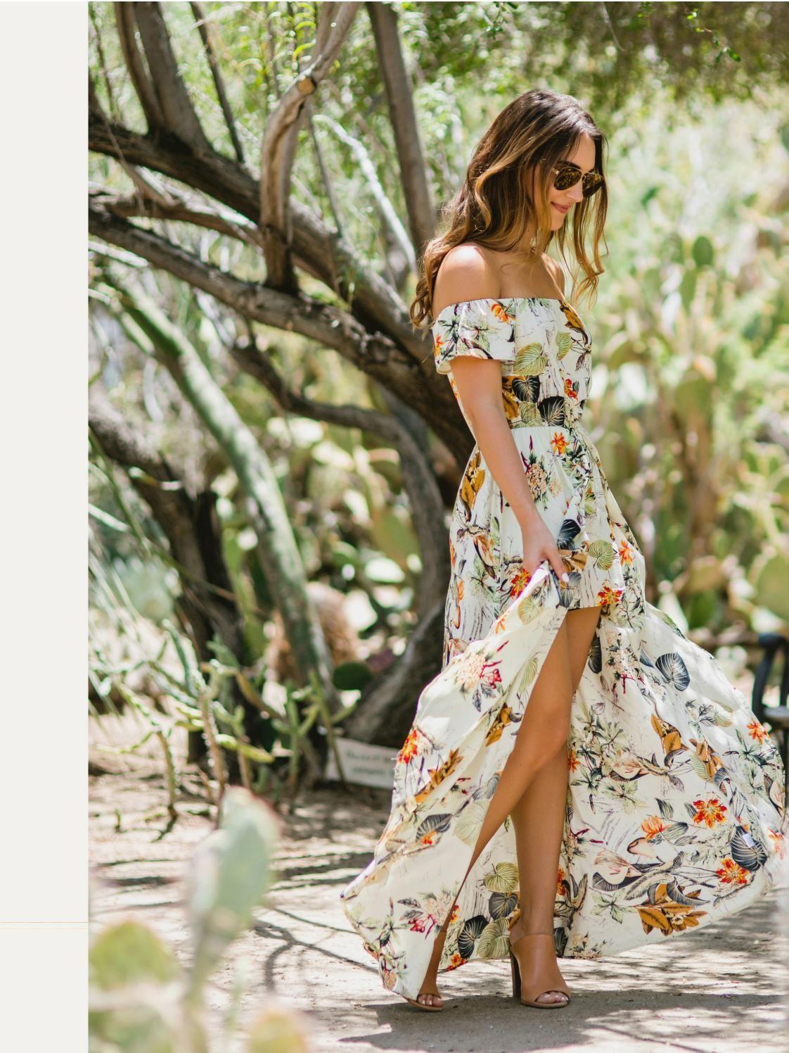 Summer In The Sun Floral Dresses Long Maxi Dress Spring Maxi Dress [ 1496 x 1122 Pixel ]