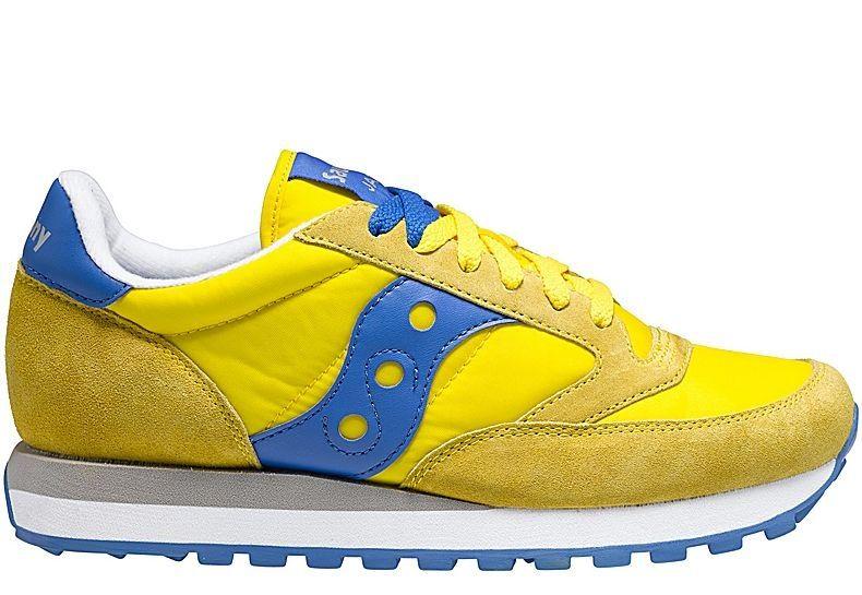 Saucony Jazz Original Yellow Blue   Shoes, Most popular