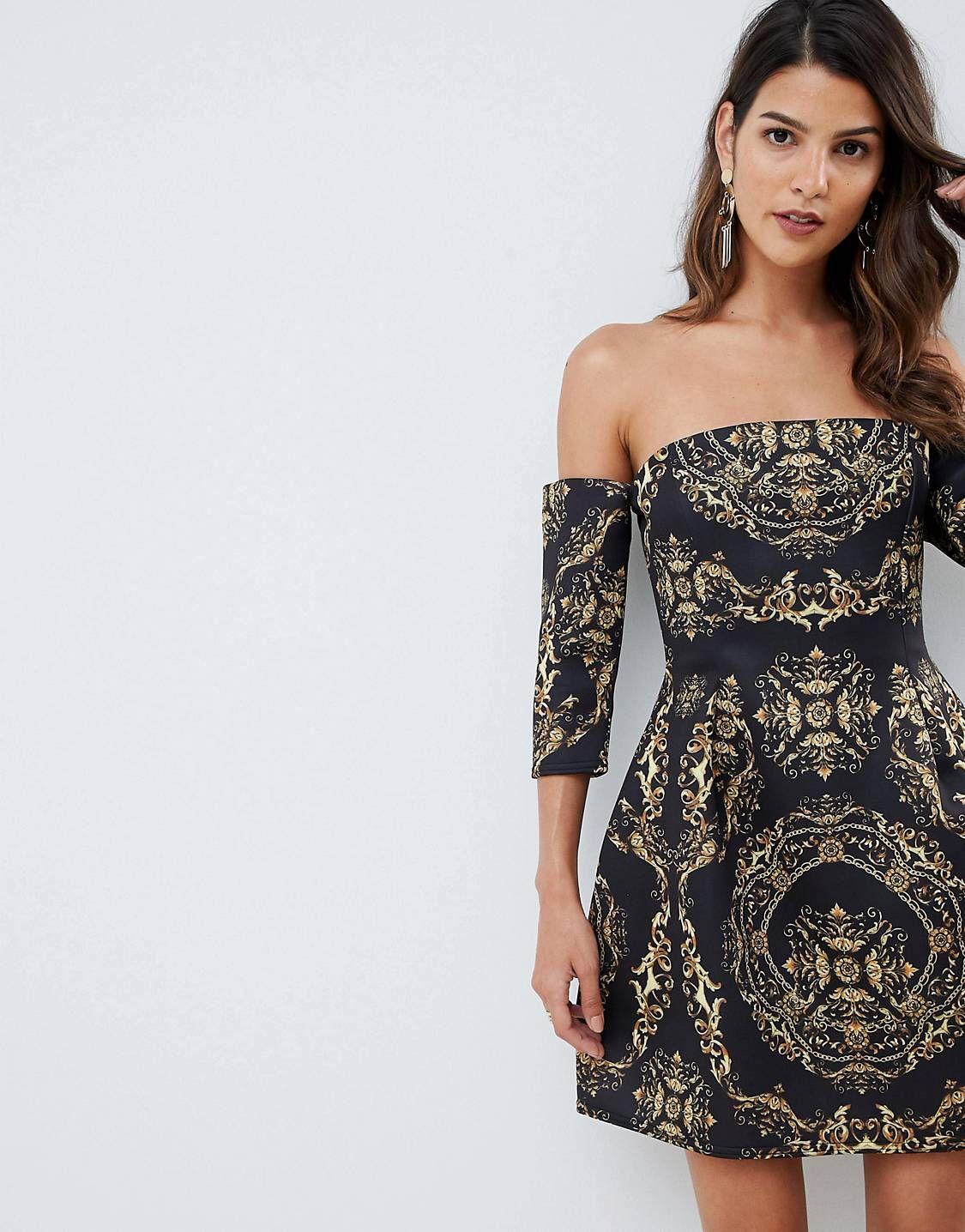 978516f11cdf DESIGN bardot mini dress in chain print in 2019   • imaginary closet ...