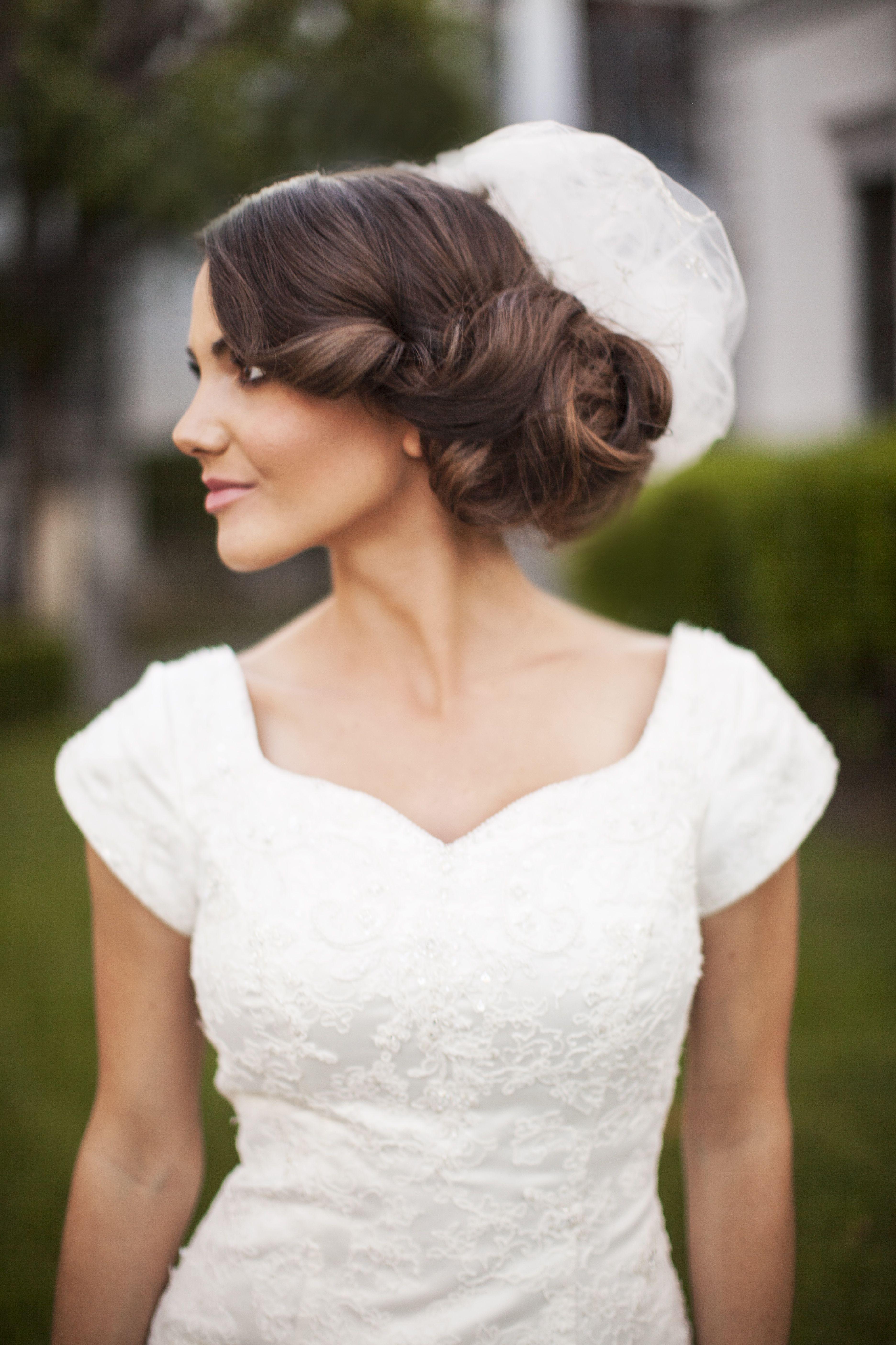 side-swept updo | Long bridal hair, Bridal hair pieces ...