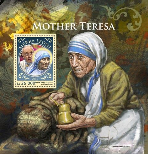 Srl16915b Mother Teresa Mother Teresa 19101997 And Pope Francis