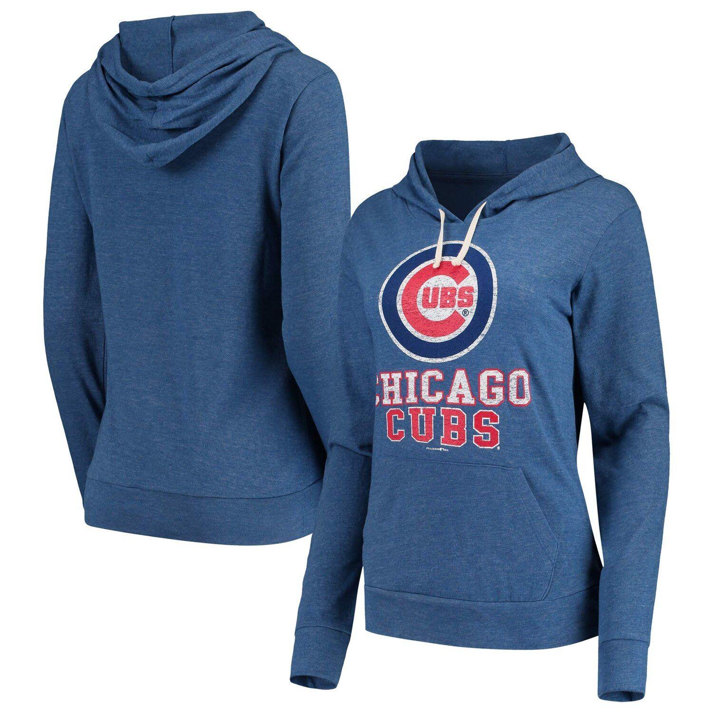 Women S New Era Royal Chicago Cubs Jersey Tri Blend Pullover Hoodie Chicago Cubs Jersey Womens Jersey Cubs Hoodie [ 1500 x 1500 Pixel ]