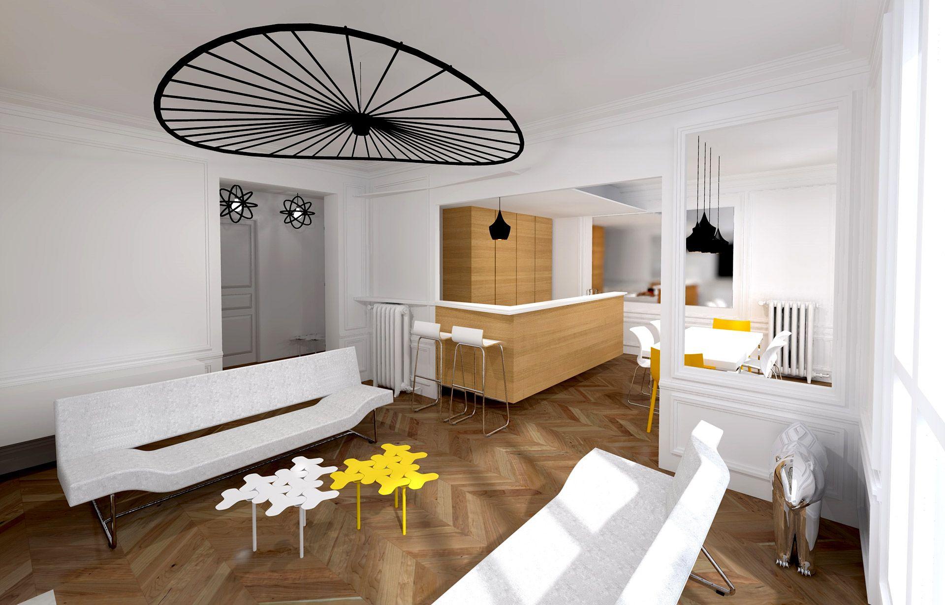 appartement haussmanien 16eme piece a vivre grand espace chic luxe agence avous  Agence Avous