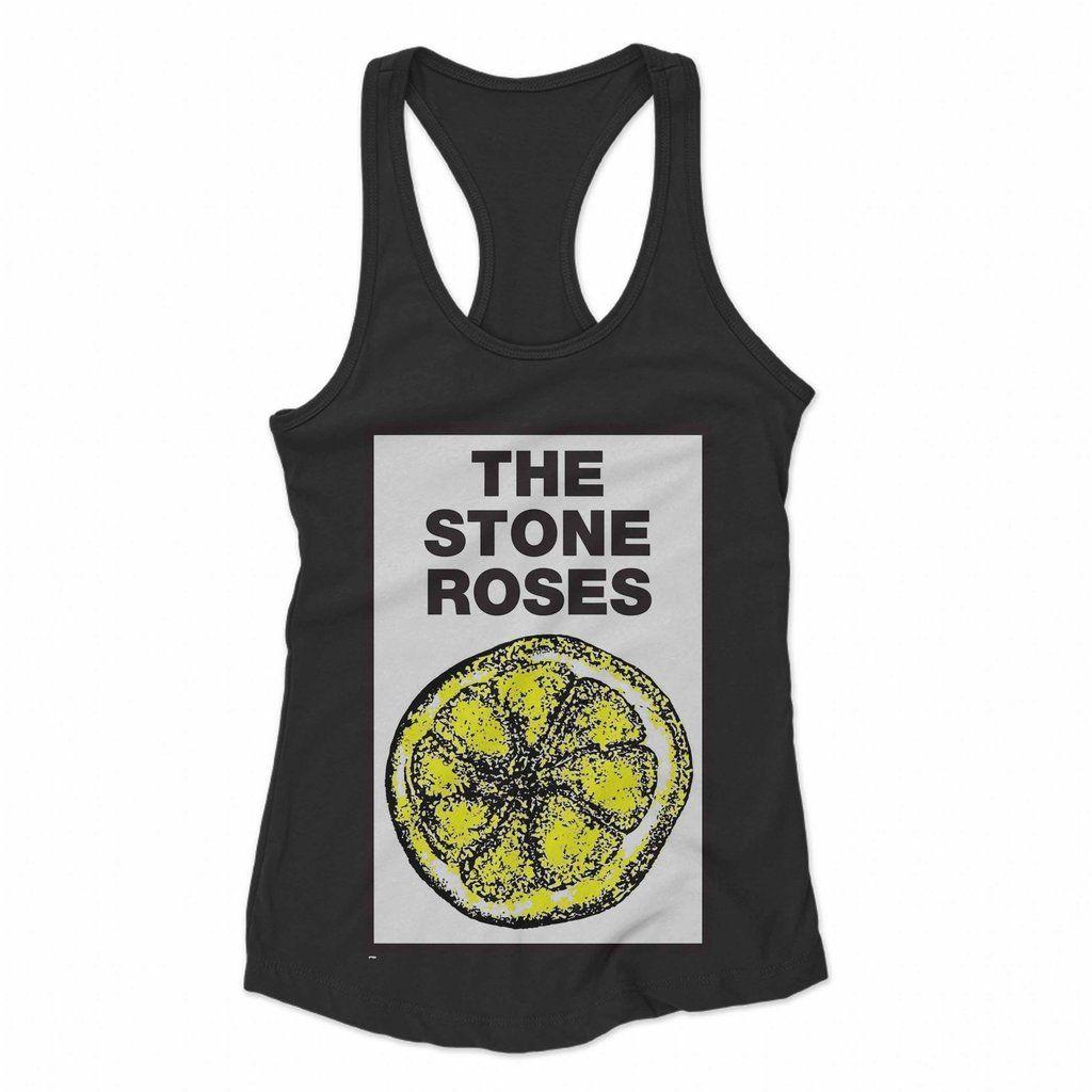 Stone Roses The Womens//Ladies Lemon Tank Top