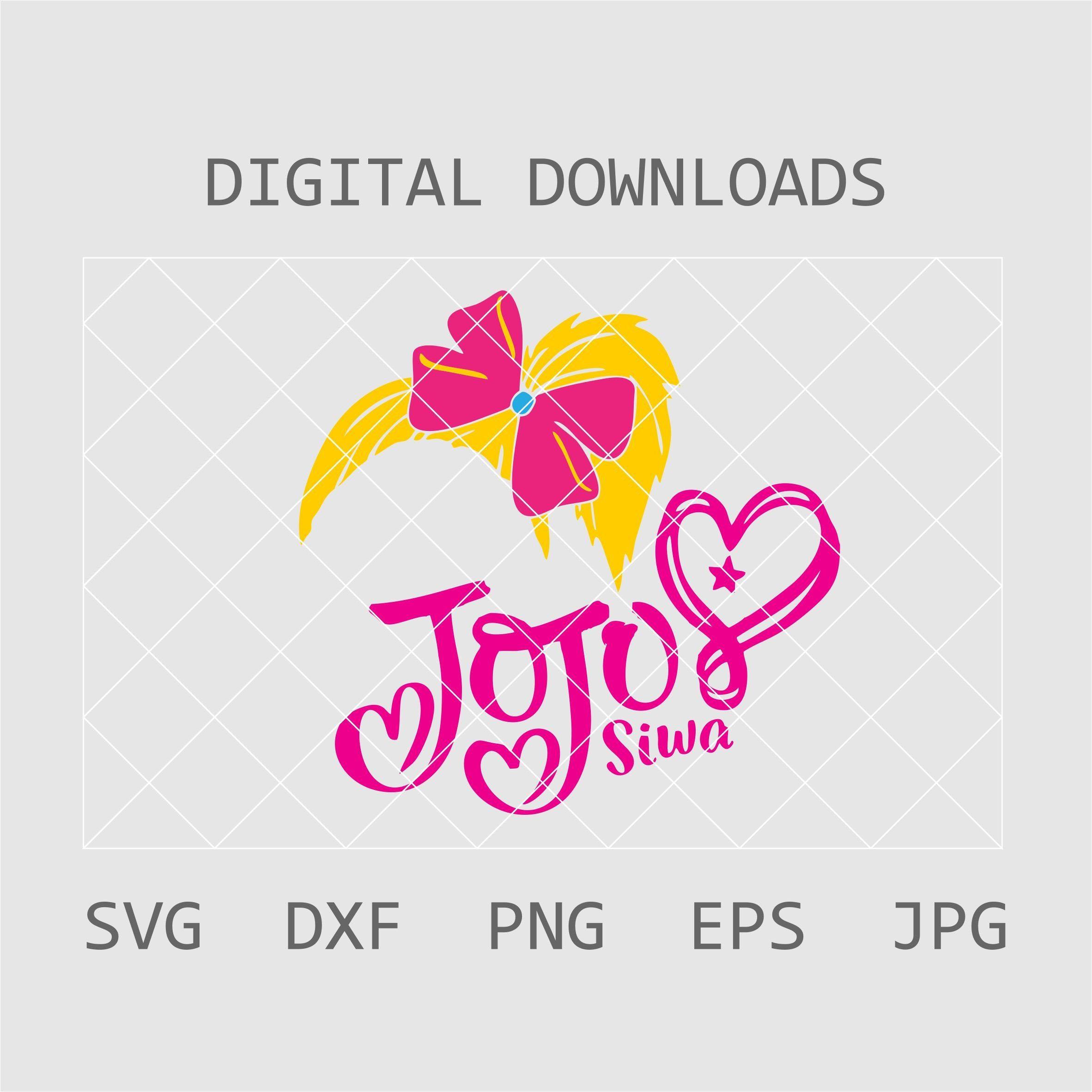 Jojo Siwa Logo Jojo Siwa Squad Svg Jojo Siwa Logo Svg Jojo Siwa Svg Jojo Siwa T Shirt Svg J Tshirt Crafts Svg Jojo Siwa
