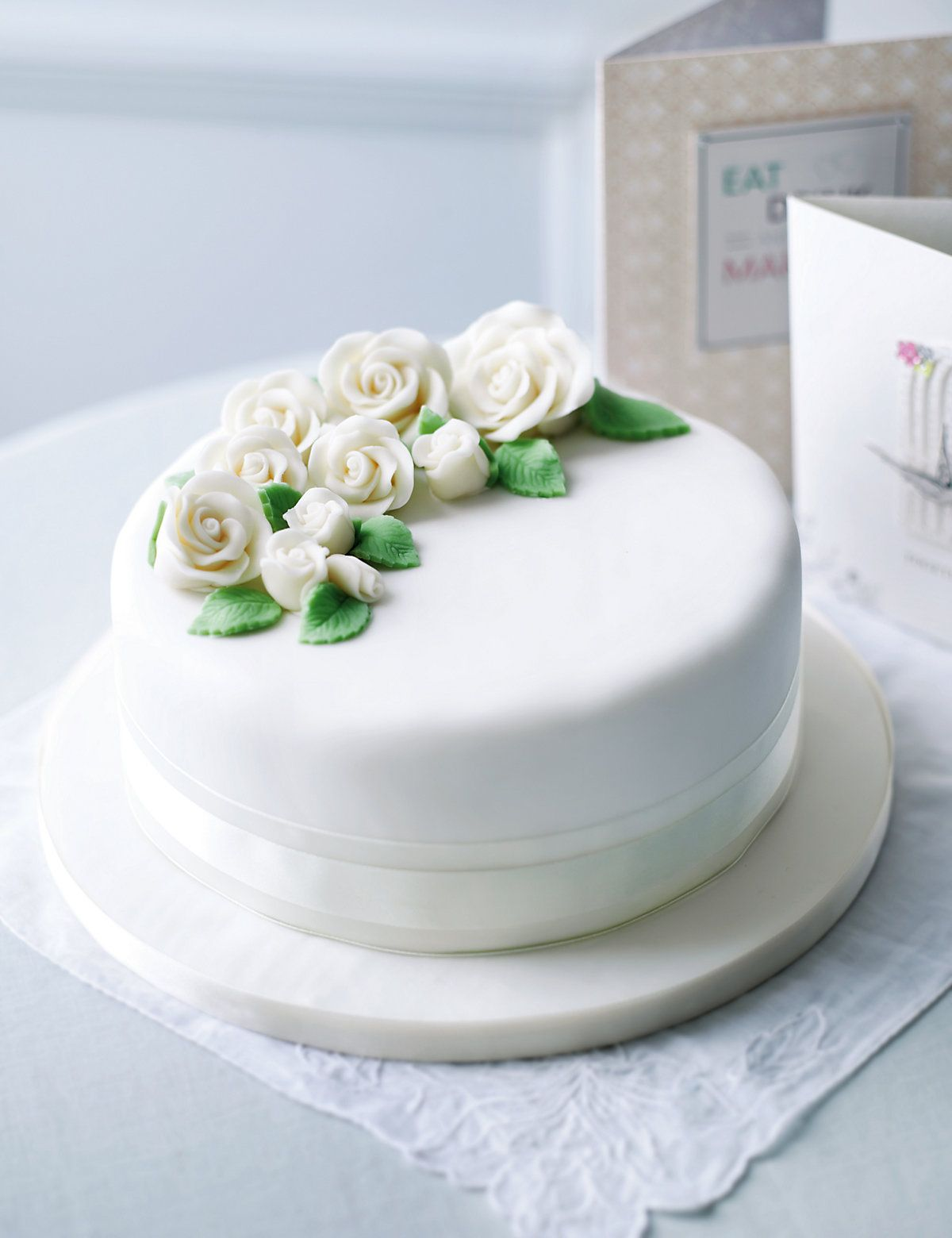 Spray of Roses - Sponge | M&S | CAKES MAINLY WHITE 7 | Pinterest ...