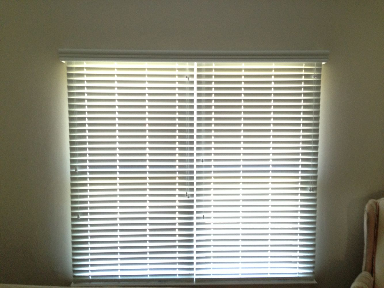Faux Wood Blinds Double Window Individual Blinds With Common