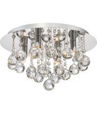 Quoizel Bordeaux With Clear Crystal 14 Inch Wide Flush Mount | Capitol Lighting 1-800lighting.com