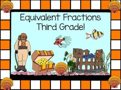 Equivalent Fractions Third Grade from Donna-Thompson on TeachersNotebook.com -  (28 pages)  - Common core 3.NF.3 Understanding two fractions as equ…