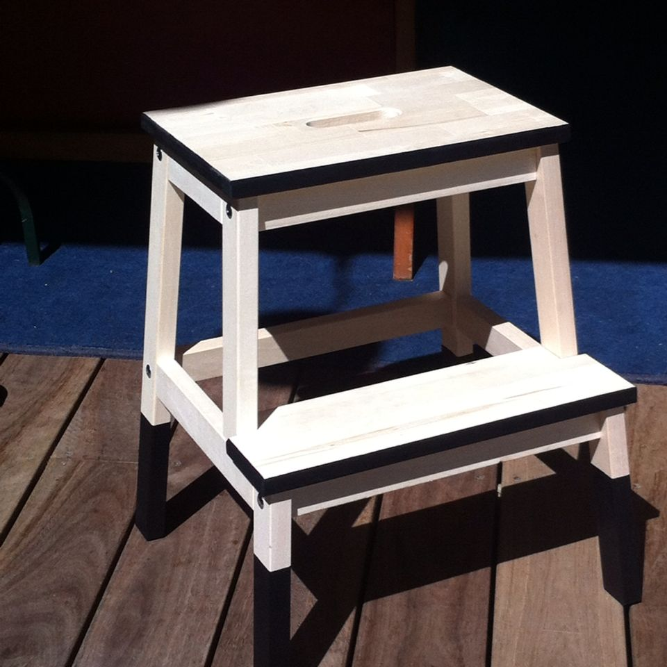 Enjoyable My First Ikea Hack Dip Dyed Bekvam Stool Steps Kitchen In Ibusinesslaw Wood Chair Design Ideas Ibusinesslaworg