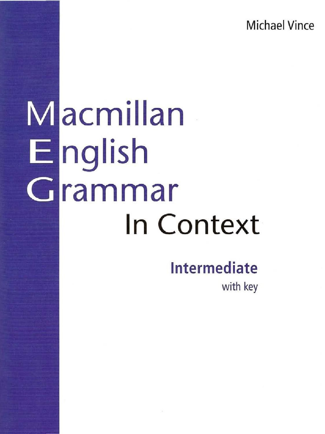 Macmillan English Grammar In Context Intermediate By Joao