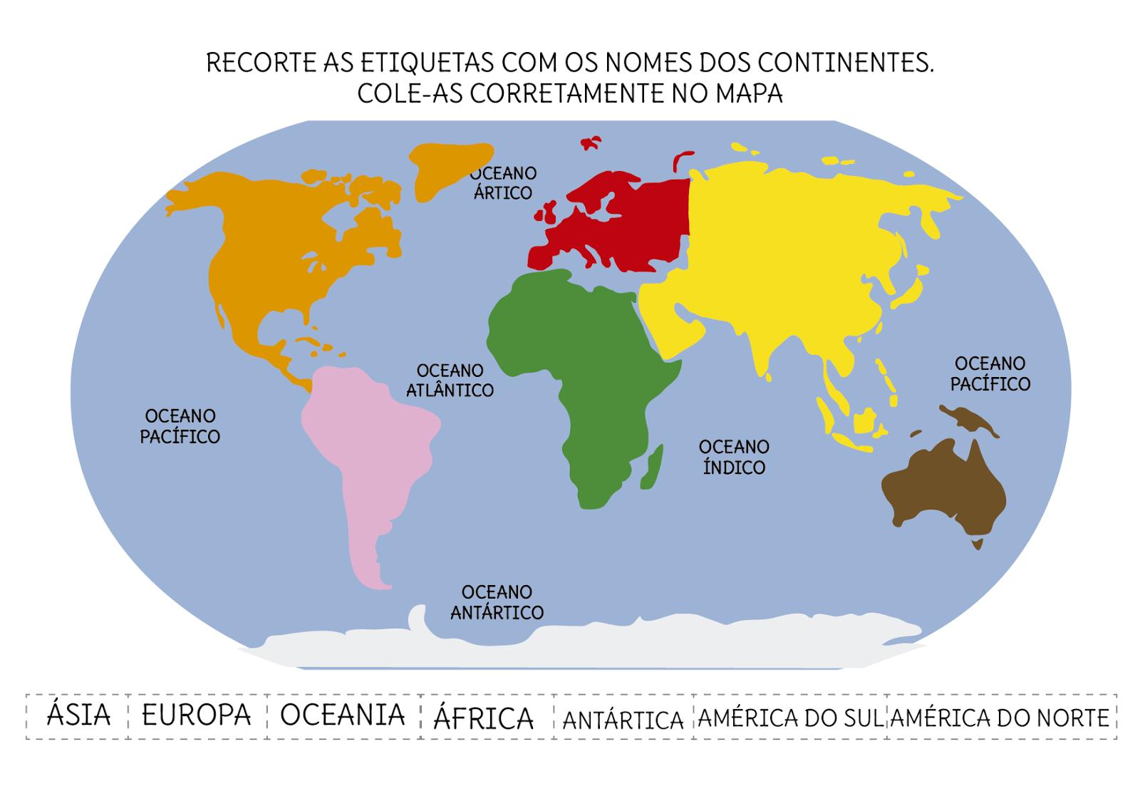 Cuales Son Los 6 Continentes Del Planisferio: Introdução à Geografia (Parte III)