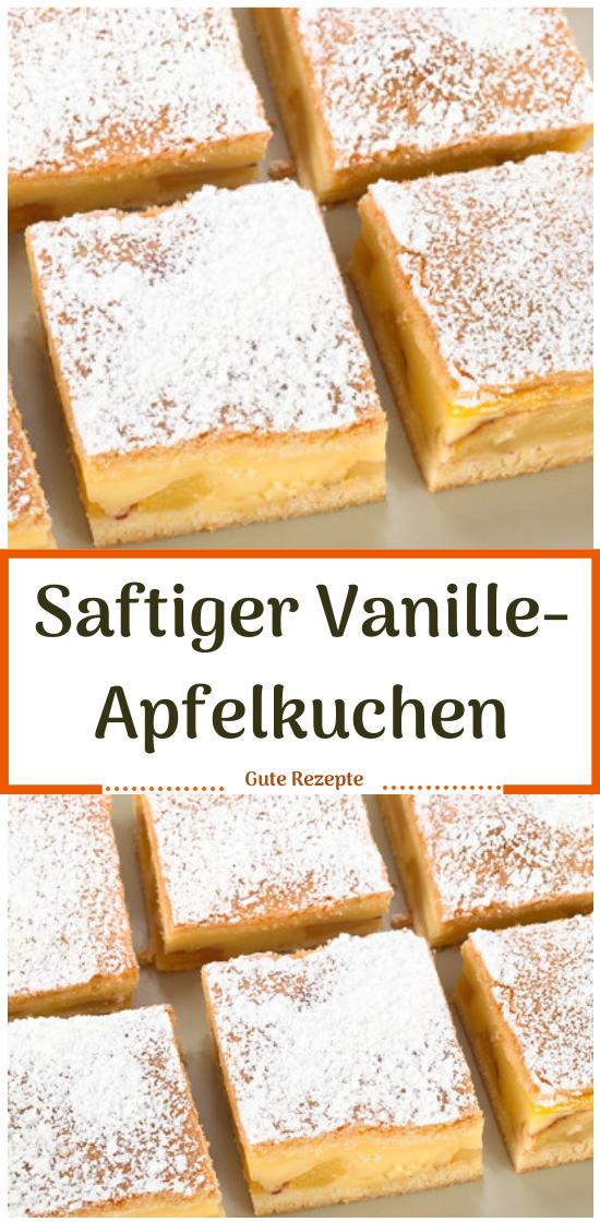 Saftiger Vanille-Apfelkuchen #Apfelkuchen #Vanille #Saftiger #Rezepte