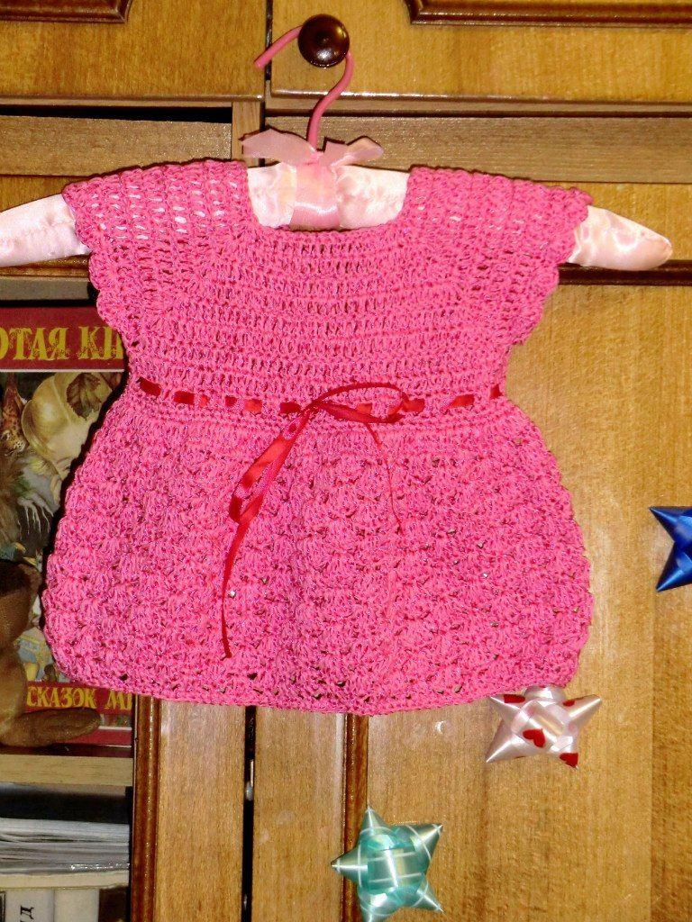 Patron para hacer un vestido y bolero a crochet para niña ...