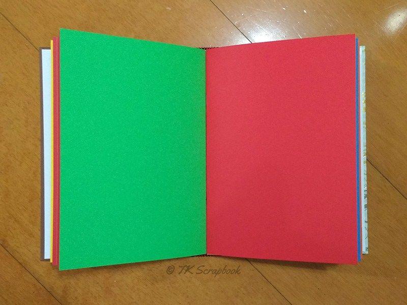 Álbum de fotos em scrapbook (páginas internas coloridas, sem estampa ...