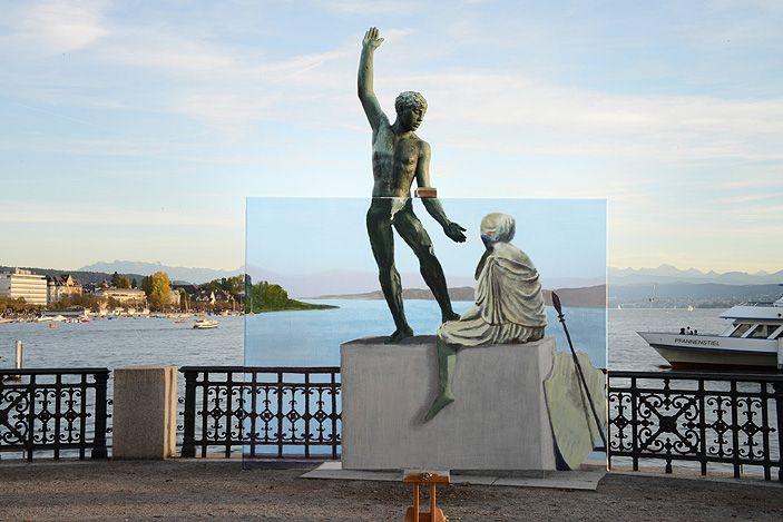 "Christian Stoop, Switzerland, realmontage: ""allegorical journeys"", digiprint on aludibond, 105x157cm (2014)"