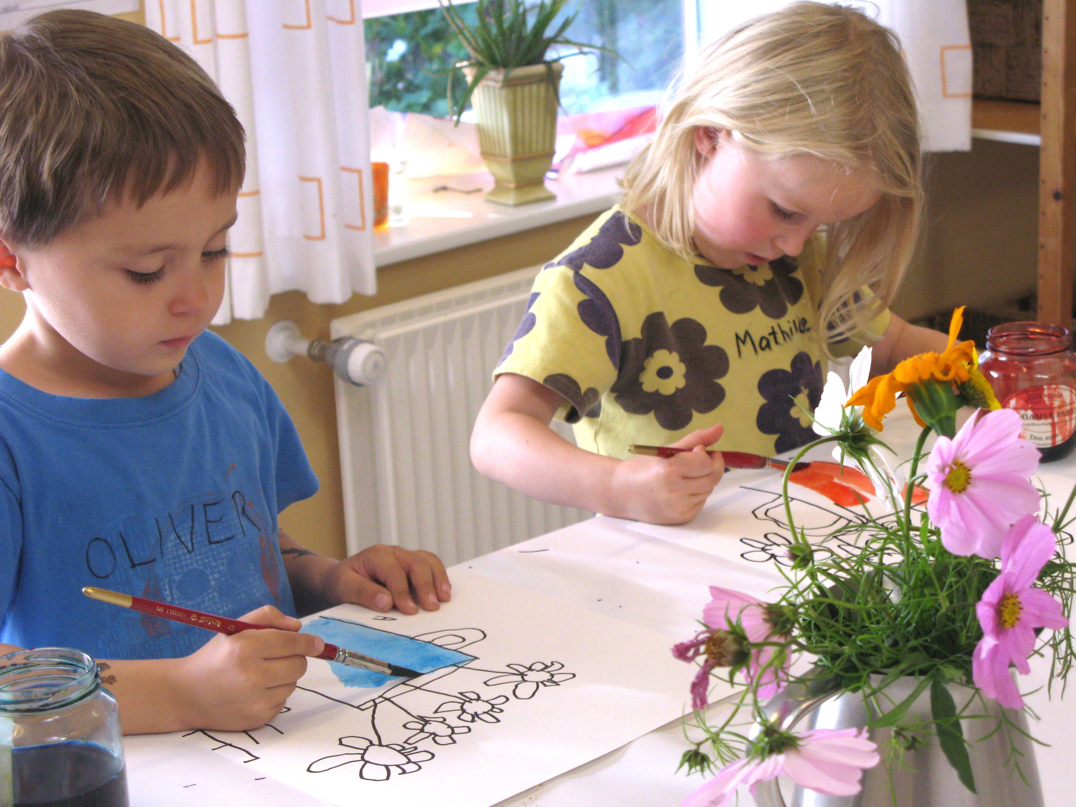 Flower. Watercolour with Britta Johanson.