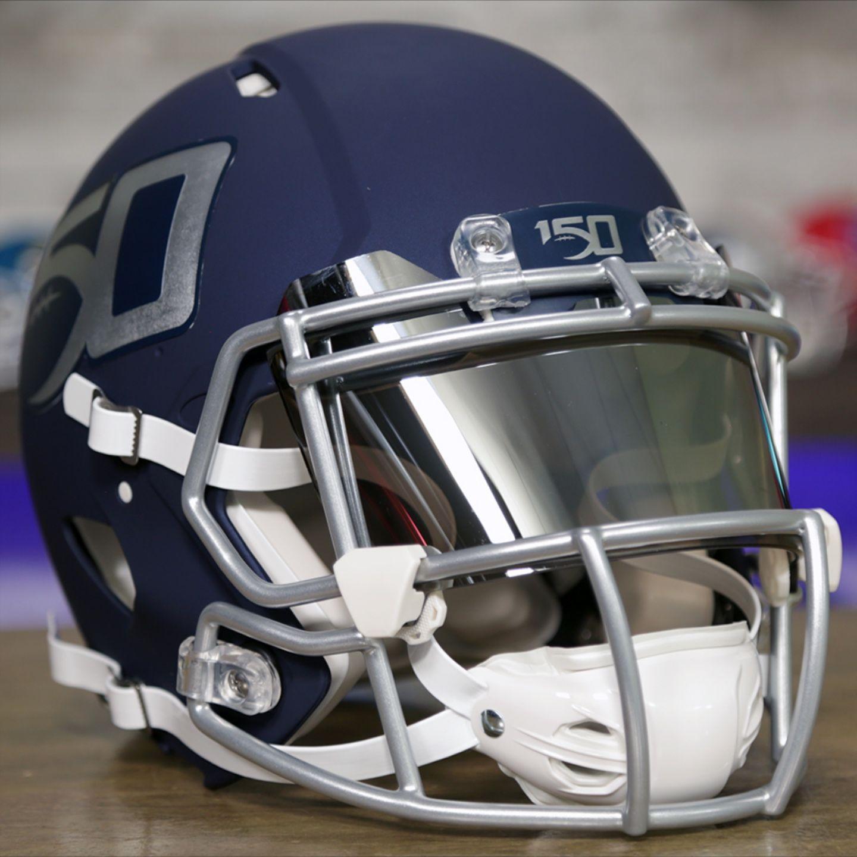Custom helmet celebrating college footballs 150th
