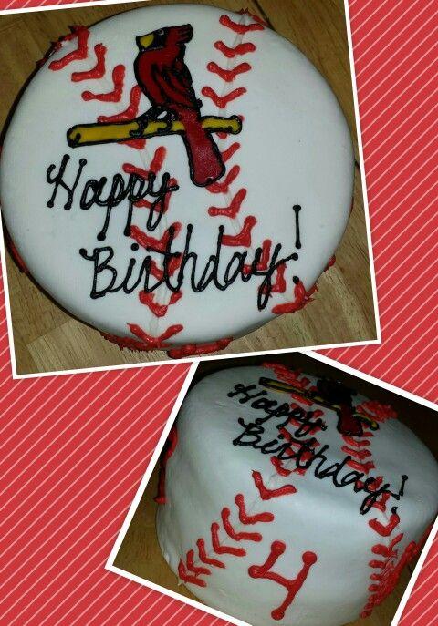 St Louis Cardinals Birthday Cake Custom Cakes By Megan
