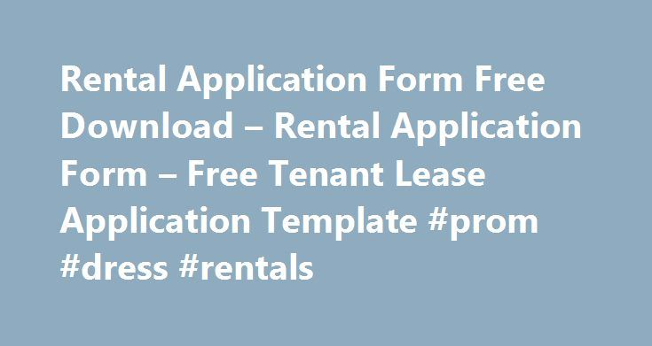 Rental Application Form Free Download u2013 Rental Application Form - application form template free download