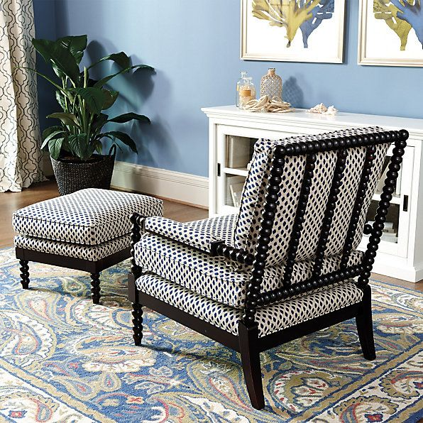 Shiloh Spool Chair And Ottoman