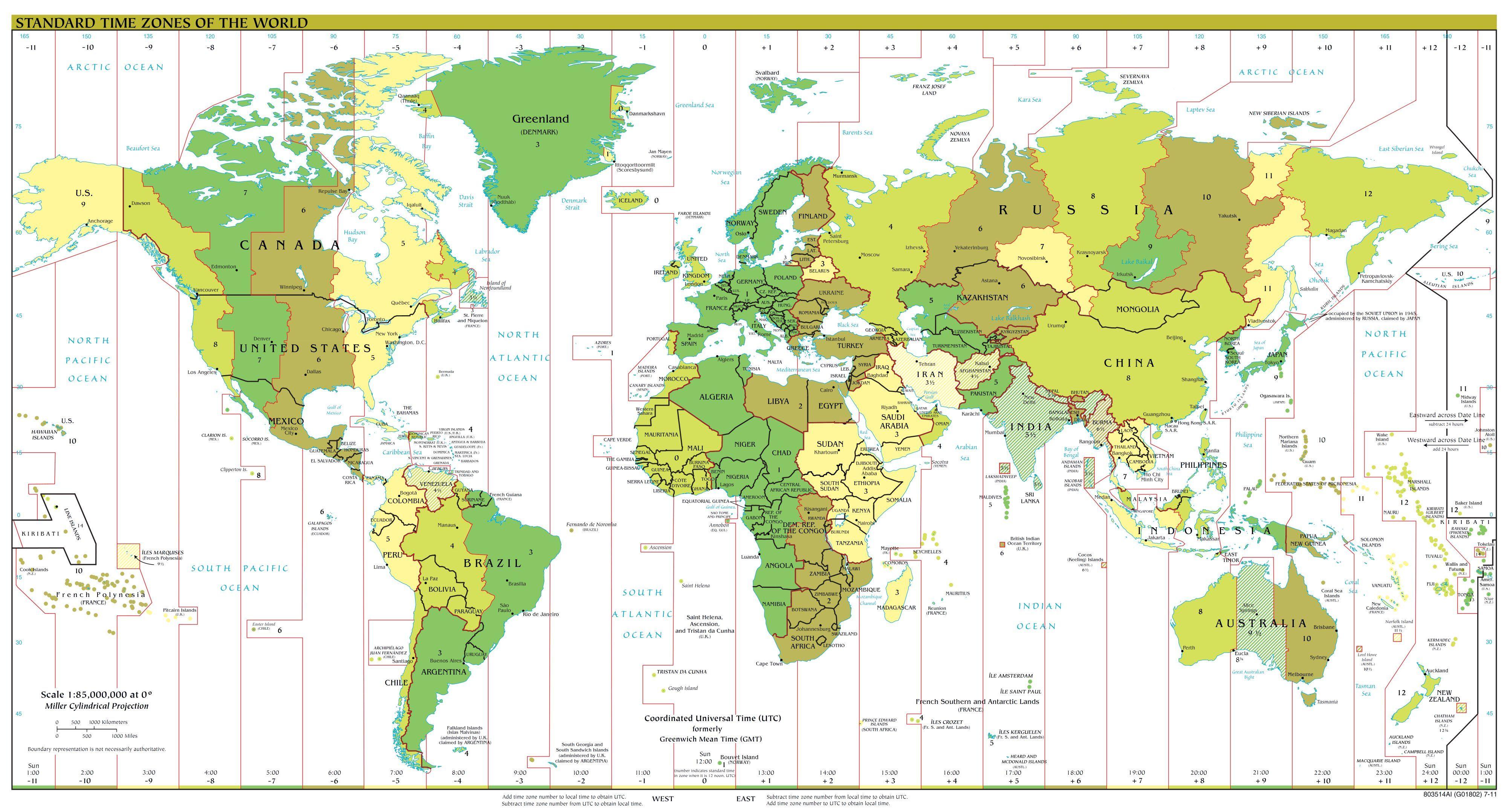 Weltkarte Mit Zeitzonen Zeitzonen Karte Urlaub Grusse Urlaubsgrusse