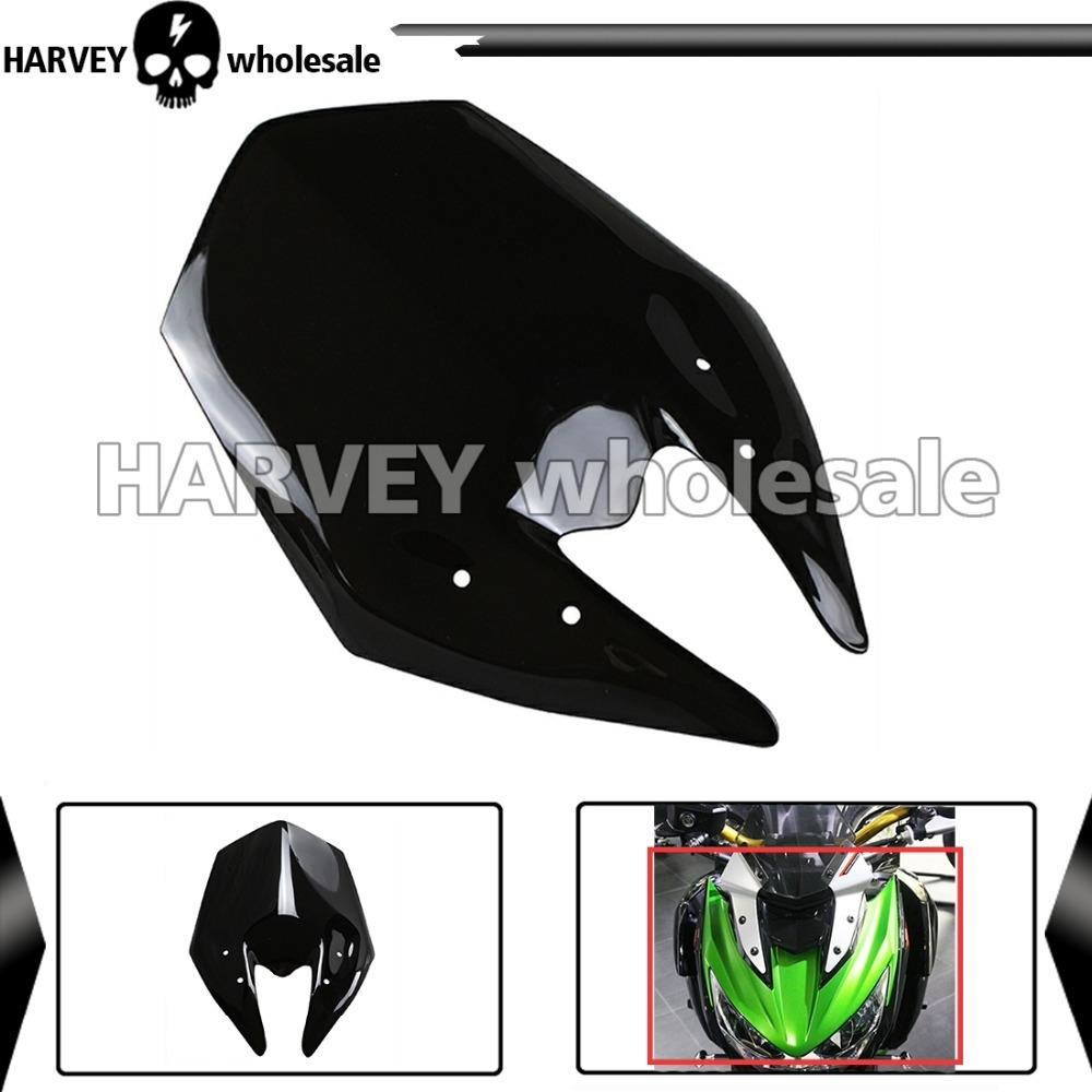 (61.98$)  Watch more here - http://ai8la.worlditems.win/all/product.php?id=32554984221 - 2015 Free Shipping Motorcycle Double Bubble Windshield WindScreen  For 2013-2014 Kawasaki Z800 13 14 Z 800  Black color