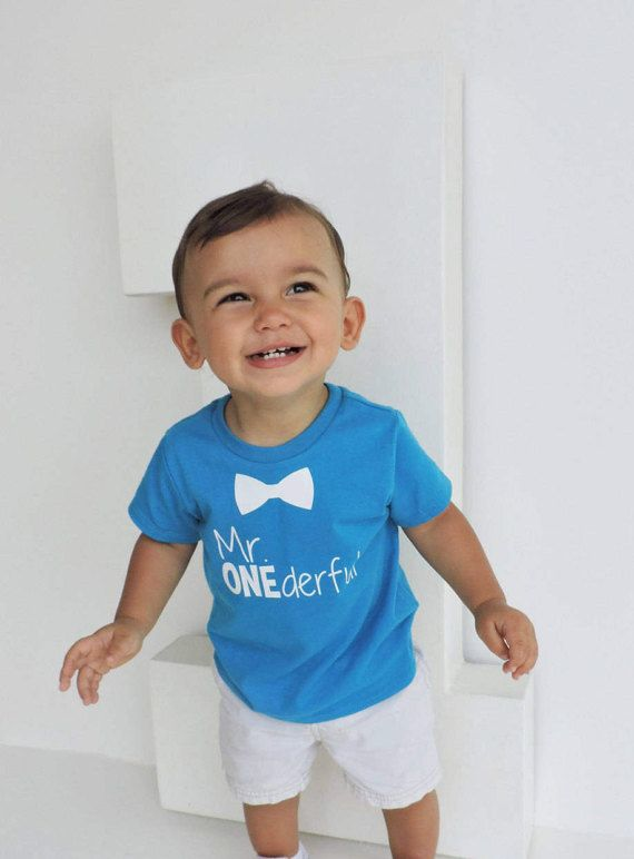 Bowtie Mr ONEderful 1st Birthday Shirt Front And Back