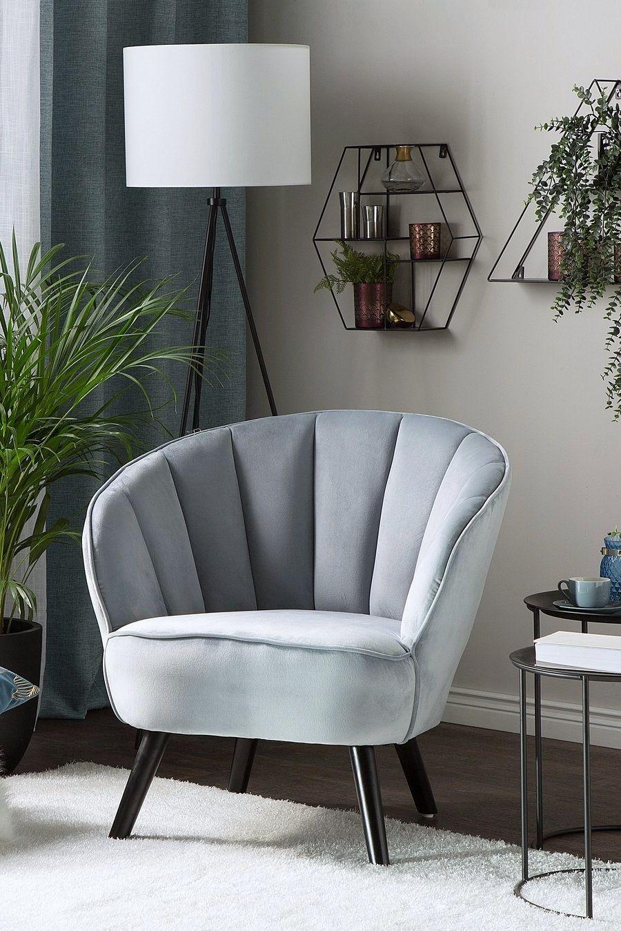 Fotel Welur Jasnoszary Dala W 2019 Salon Furniture Home Decor I