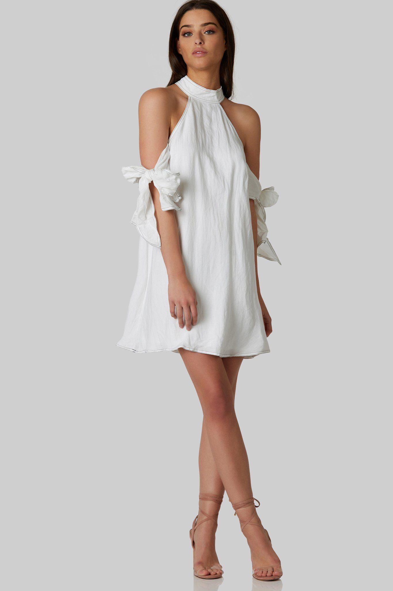 White Shoulder Off Dress Dresses Brunch Dress Nice Dresses