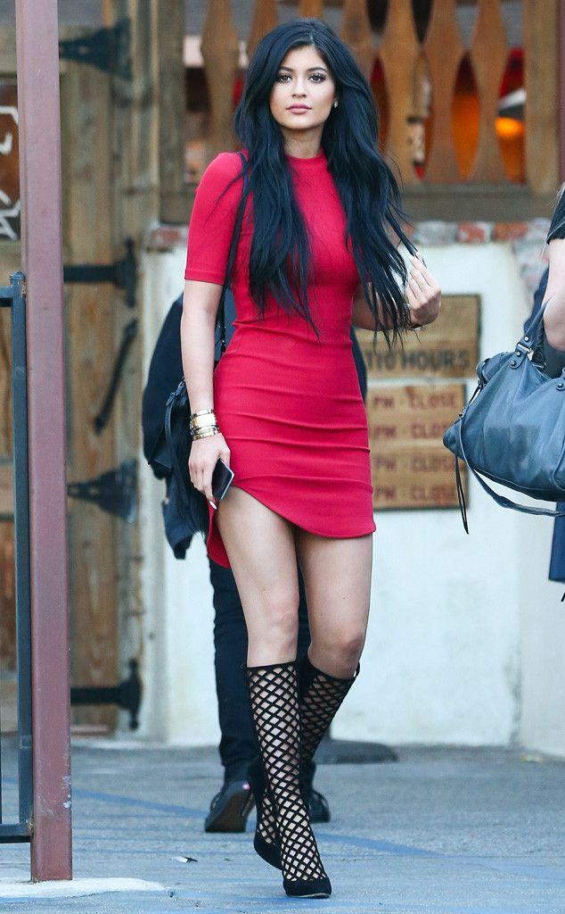 Red kylie jenner dress