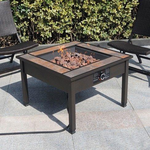 Uniflame Ceramic Tile Lp Gas Fire Pit Home Amp Garden