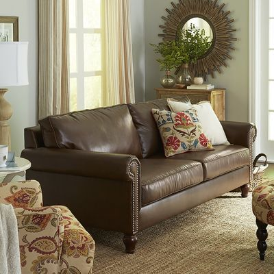 Perfect Alton Sleeper Sofa: Built In Queen Size Bed. Padded, Rolled Arms