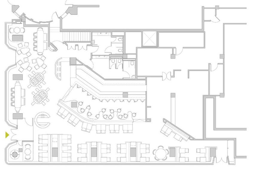 Plano del restaurante jaleo de jos andr s planos for Plano restaurante