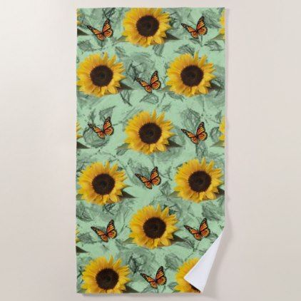 Beach Towels Sunflowers Zazzle Com Beach Towel Diy