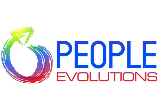 Ignite created this custom-designed logo for People Evolutions. White Background.