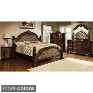 Shop For Furniture Of America Kassania Luxury 4 Piece Leatherette Bedroom  Set. Get Free