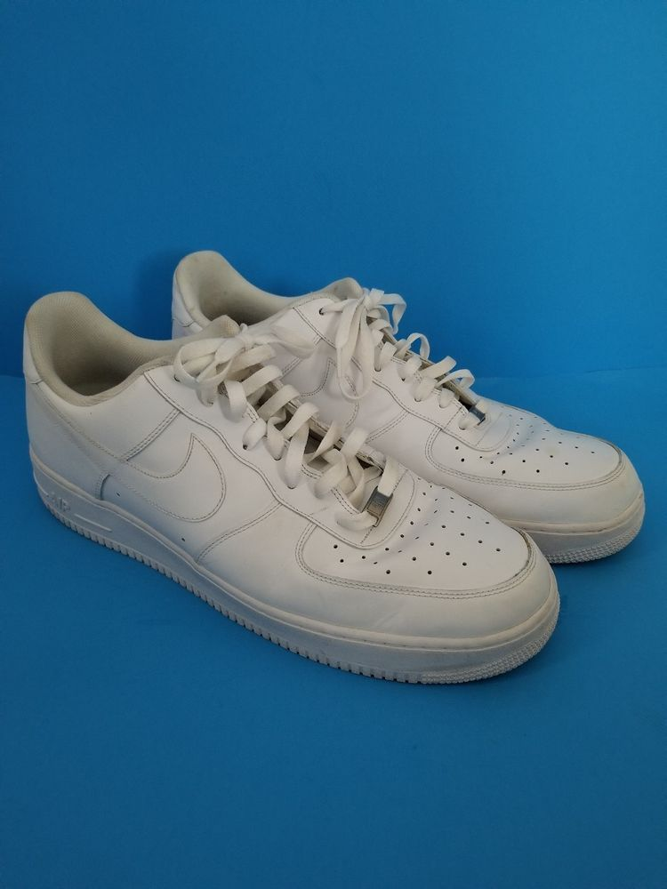 online store f8d2f 84460 Mens Size 17 Nike Air Force 1 Low White AF1 '82 Shoes Style ...