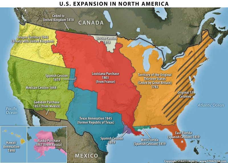 United States Territories Map The Geopolitics Of The United - Map of us after revolutionary war