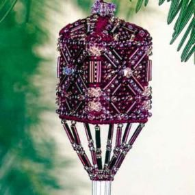 Willow Tassel Beaded Stitched Christmas Ornament Kit Mill Hill 2001