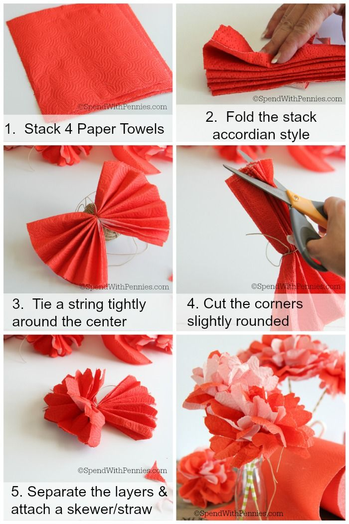 How to make beautiful flowers out of paper towels these are how to make beautiful flowers out of paper towels these are inexpensive quick and easy to make and beautiful as a simple centrepiece mightylinksfo Images