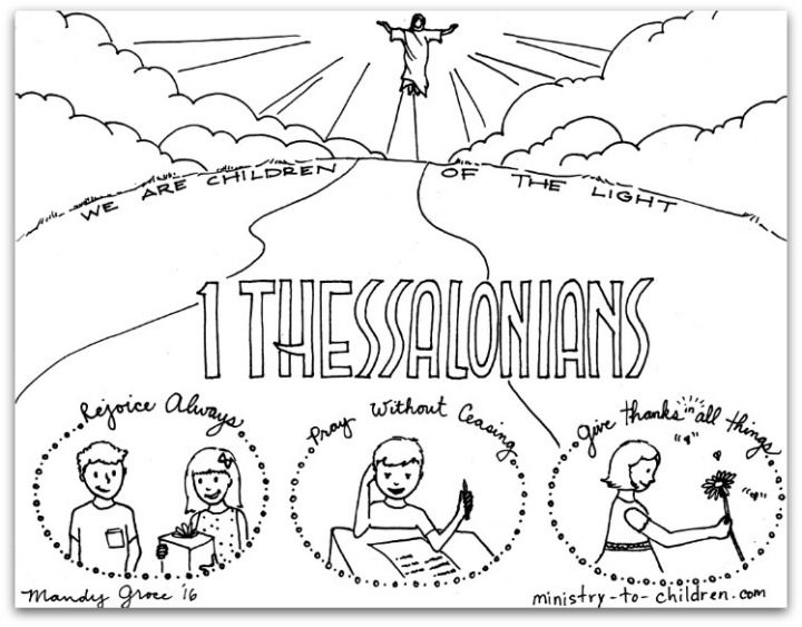 1 Thessalonians Bible Book Coloring Page Books Of The Bible
