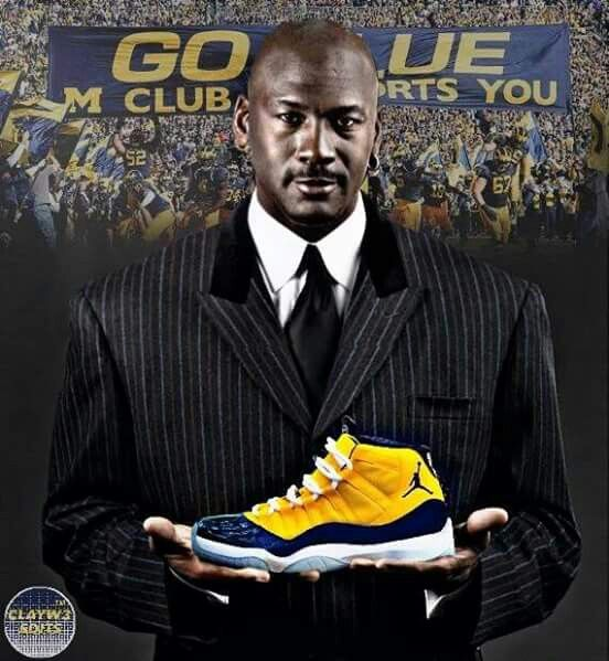 Michigan Go Jordan Wolverines Team Blue CwacT5Hw1