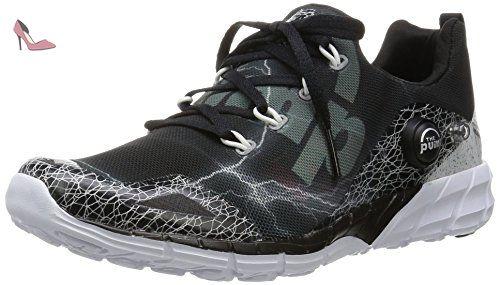 4eceee15370b5 Reebok ZPump Fusion 2.0 SPDR Femme Chaussures courses   pied Noir 38 1 2 -