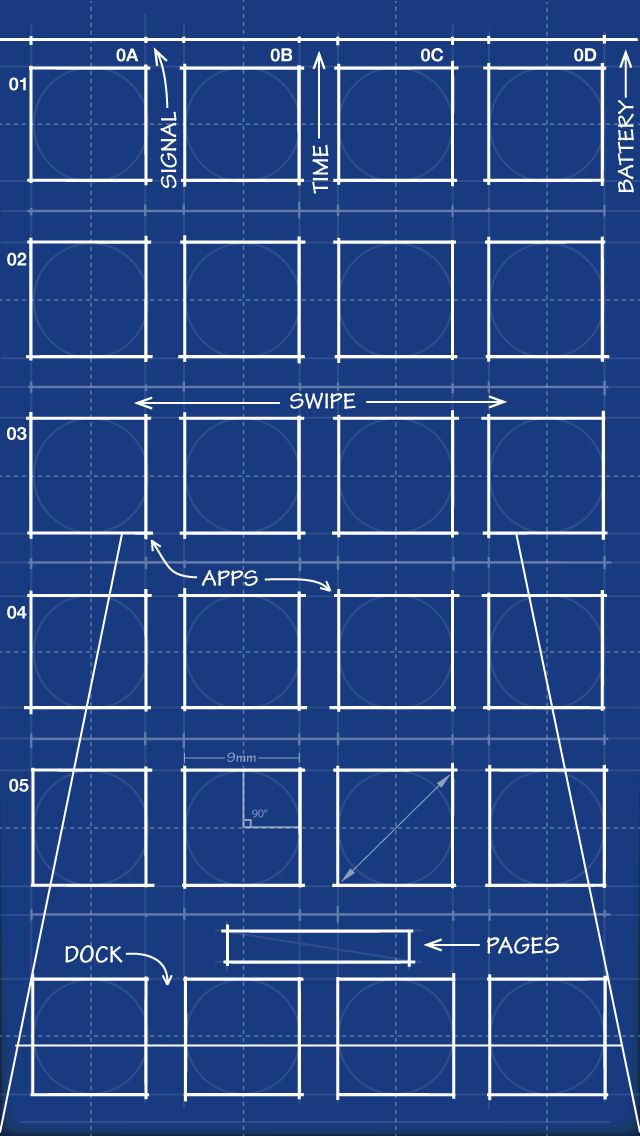 Blueprint iphone 5 app skins wallpaper cool wallpapers and blueprint iphone 5 app skins wallpaper malvernweather Choice Image