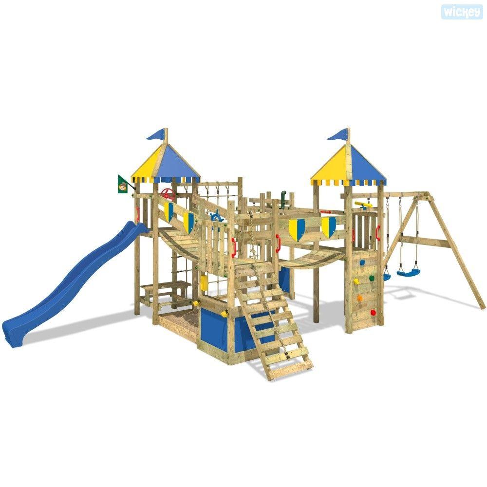 Spielturm Wickey Smart King | Rutsche, Kletterturm und Spielturm