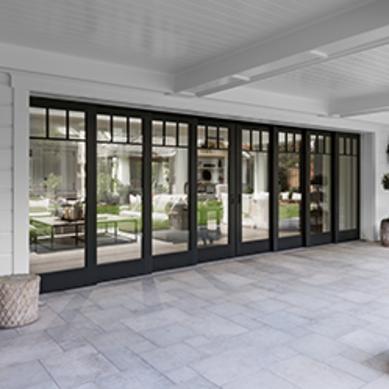 Architect Series Traditional Multi Slide Patio Door Pella French Doors Exterior Glass Doors Patio French Doors