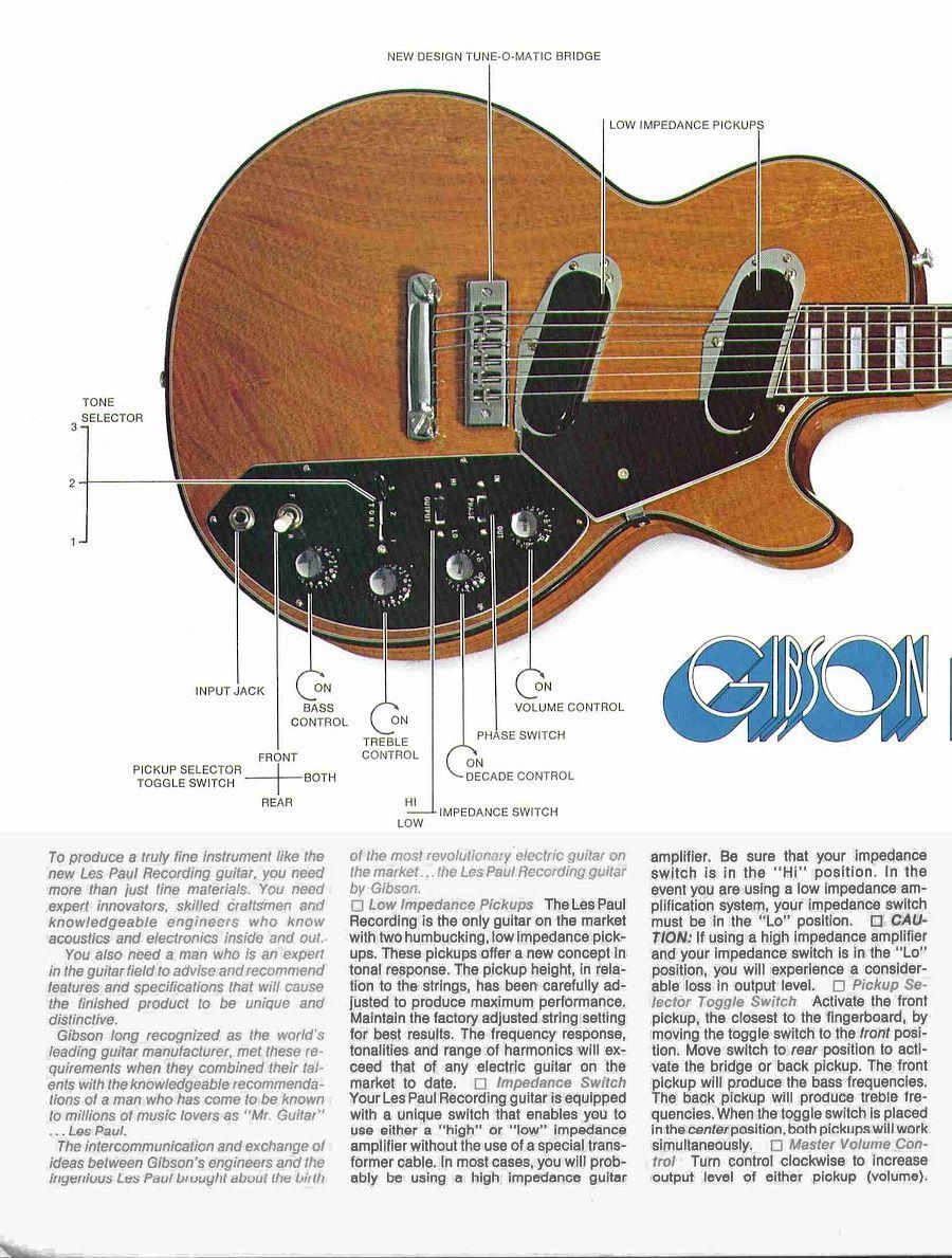 Gibson Les Paul Recording Brochure Les Paul Guitar Gibson Les Paul